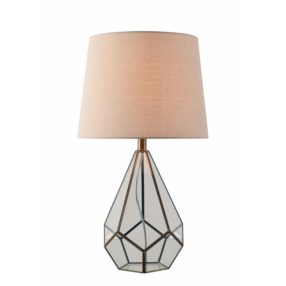 Kenroy home gemma 26 in antique metal table lamp with oatmeal kenroy home gemma 26 in antique metal table lamp with oatmeal fabric shade geotapseo Image collections
