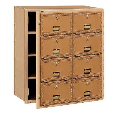 2000 Series Brass Front Loading Mailbox with 8 Doors