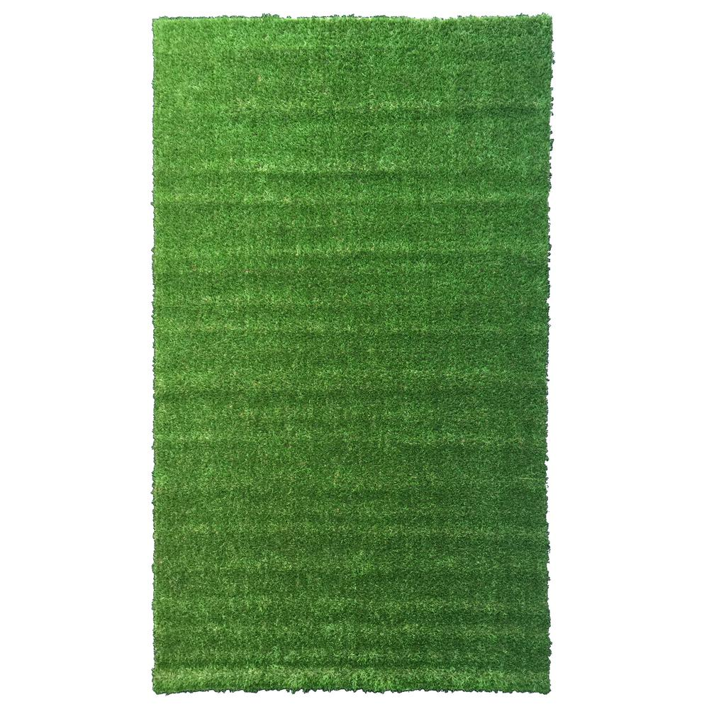 Meadowland Collection 3 Ft 11 In X 6 Heavy Duty Artificial Gr Turf Indoor Outdoor Carpet Area Rug