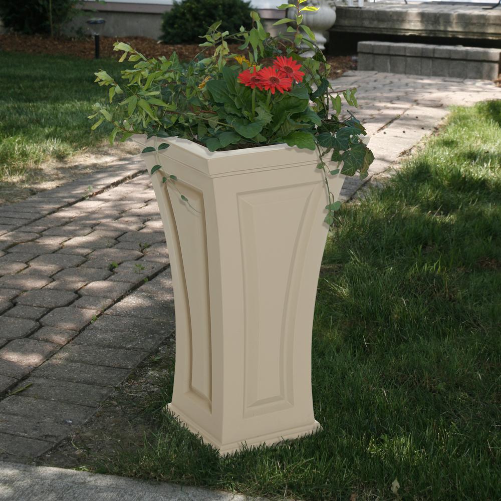 Cambridge 16 in. Square Clay Plastic Column Planter