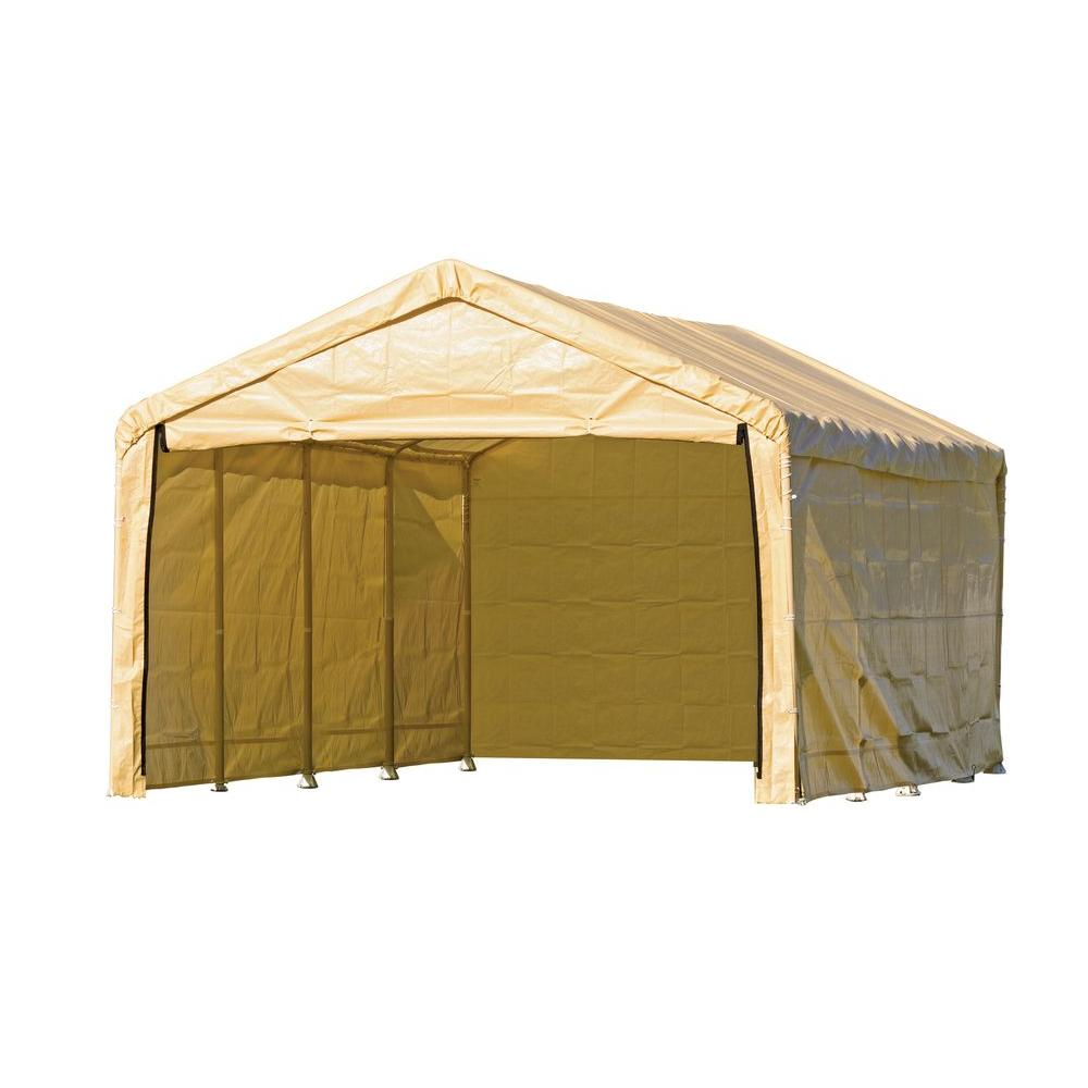 ShelterLogic Enclosure Kit for Super Max 12 ft. x 26 ft. Tan Canopy (Canopy and Frame not Included)