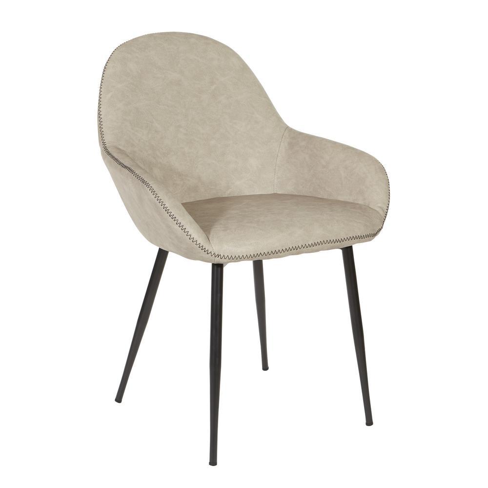 Fabulous Osp Home Furnishings Piper Chair In Fog With Dark Brown Trim Onthecornerstone Fun Painted Chair Ideas Images Onthecornerstoneorg