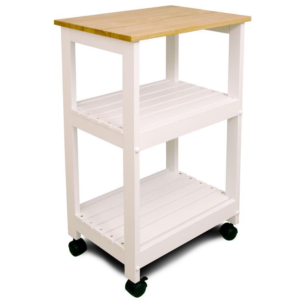 Catskill Craftsmen Natural Kitchen Cart with Shelf 81515 ...