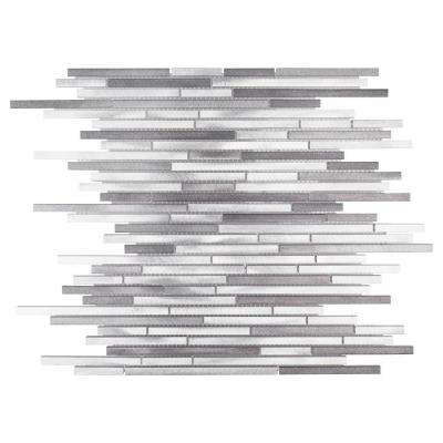 Silver Coins 12.125 in. x 11.75 in. x 8 mm Metal Mosaic Tile