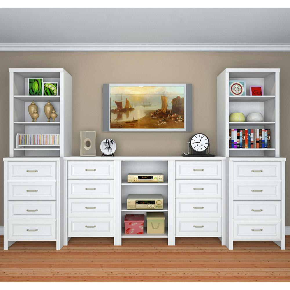 Closetmaid Impressions 19 66 In D X 25 12 W 82 46 H Deluxe Hutch Laminate Closet System Kit