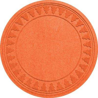 Orange 35 in. Round Pine Trees Under the Tree Mat