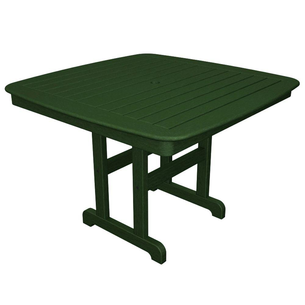Yacht Club 44 in. Rainforest Canopy Patio Dining Table