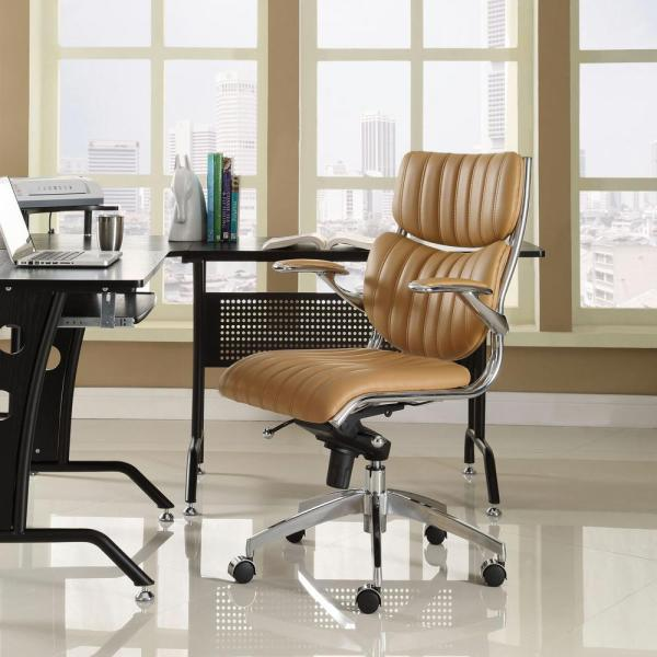 MODWAY Escape Mid Back Office Chair in Tan EEI-1028-TAN
