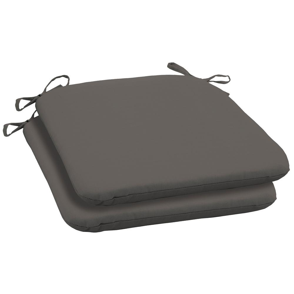 19 X 18 Slate Canvas Texture Outdoor Seat Cushion 2 Pack