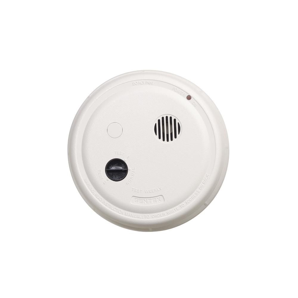 Strobe Light Smoke Detectors Fire Safety The Home Depot Wiring A Detector Hardwired Interconnected Photoelectric Alarm With Test Switch And Temporal