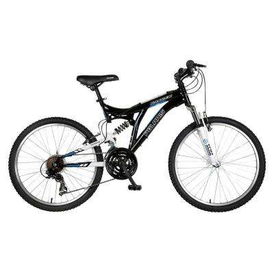 Ranger Full Suspension Mountain Bike, 24 in. Wheels, 17 in. Frame, Boy's Bike in Black