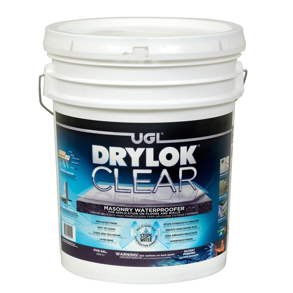 Drylok Gal Clear Masonry Waterproofer The Home Depot