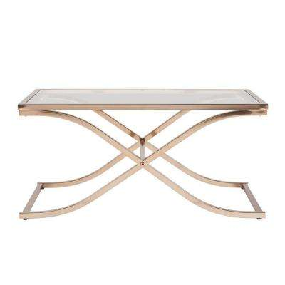 Fulton Champagne Brass Contoured Coffee Table