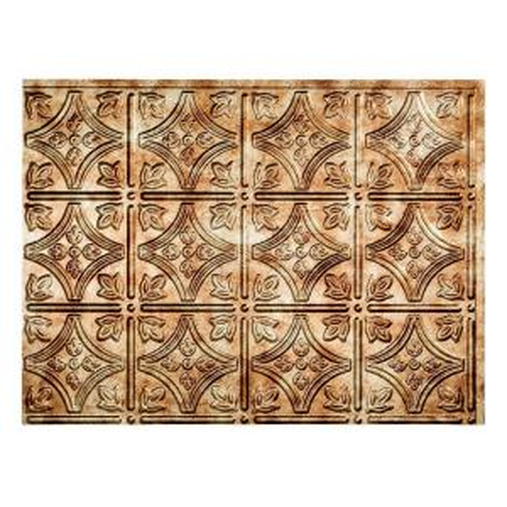18.25 in. x 24.25 in. Bermuda Bronze Traditional Style # 1 PVC Decorative Backsplash Panel