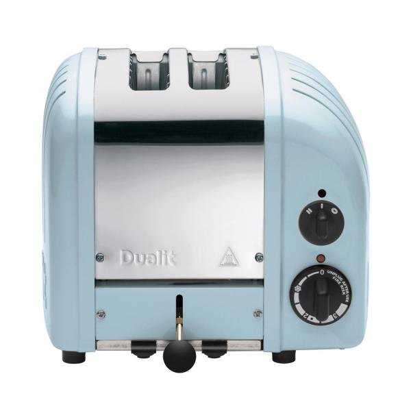 Dualit New Gen 2-Slice Glacier Blue Wide Slot Toaster with Crumb