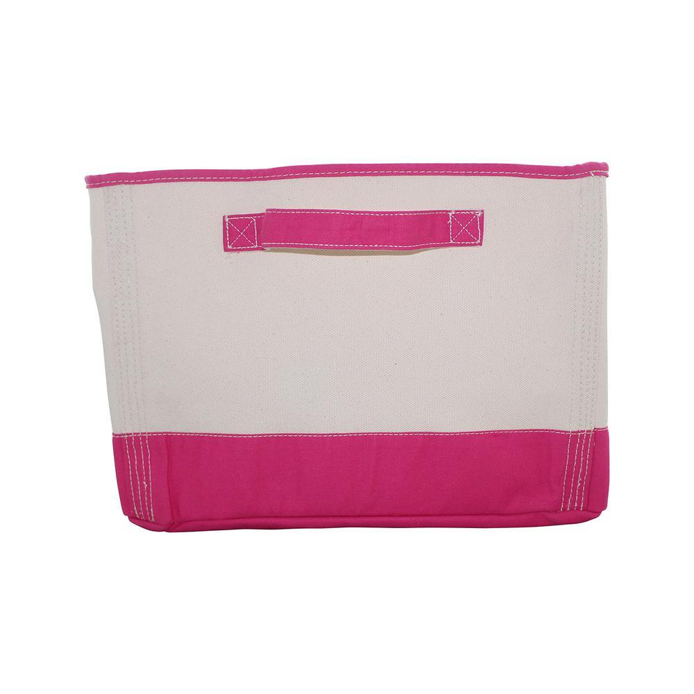 Pink Tub Fabric Storage Bin