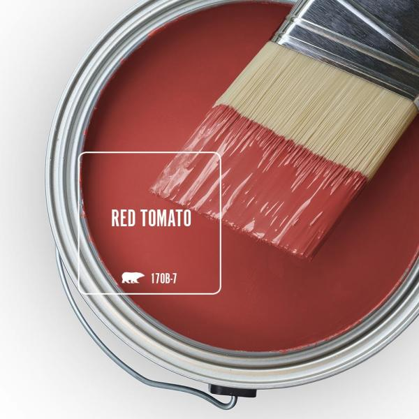 Reviews For Behr Ultra 5 Gal 170b 7 Red Tomato Flat Exterior Paint And Primer In One 485305 The Home Depot