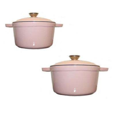 Neo 4-Piece Pink Cast Iron Casserole Set