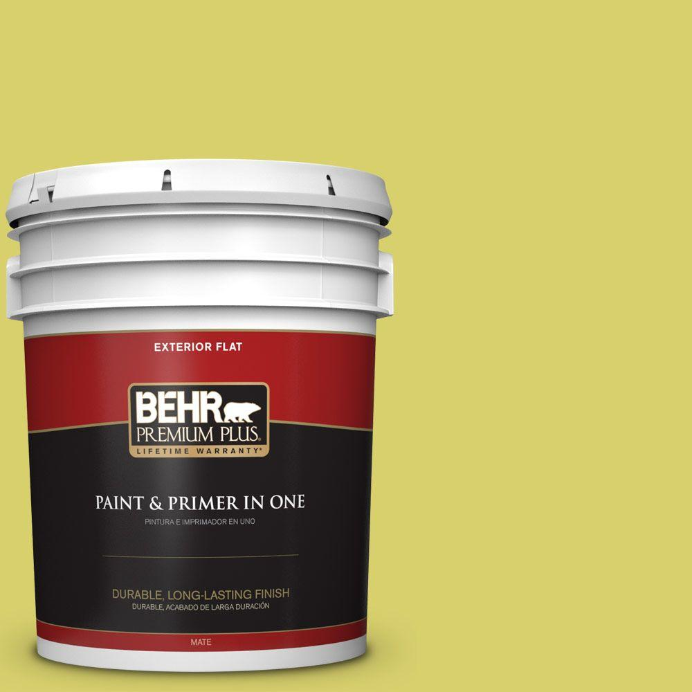 5-gal. #P340-4 Lime Tree Flat Exterior Paint