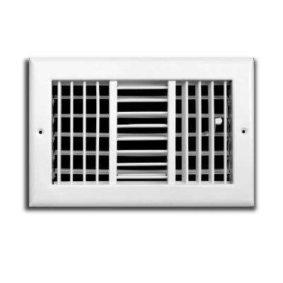 12 in. x 6 in. Adjustable 3-Way Wall/Ceiling Register