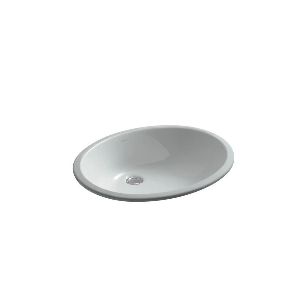KOHLER Caxton Under-mount Bathroom Sink in Ice Grey-DISCONTINUED