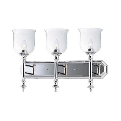 Centennial 24 in. Wide 3-Light Polished Nickel Vanity Light
