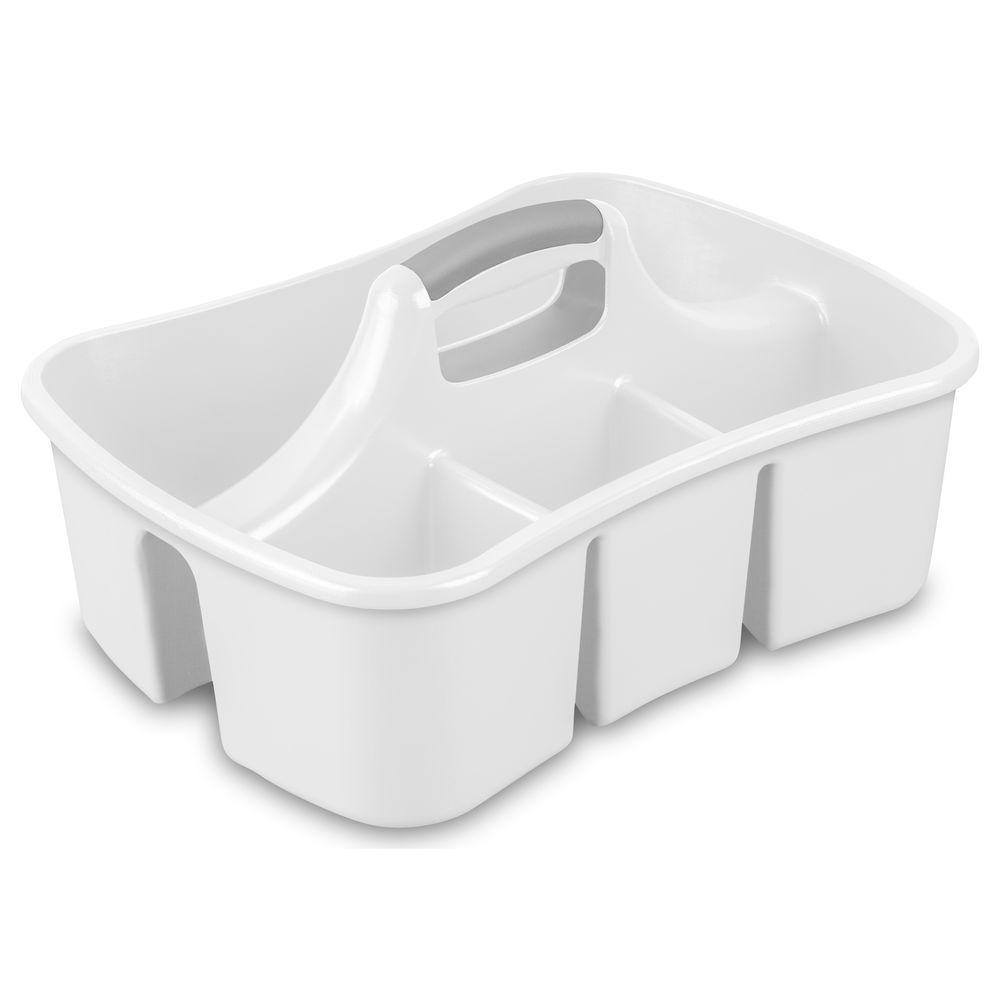 Sterilite Ultra White Caddy 15888006 The Home Depot