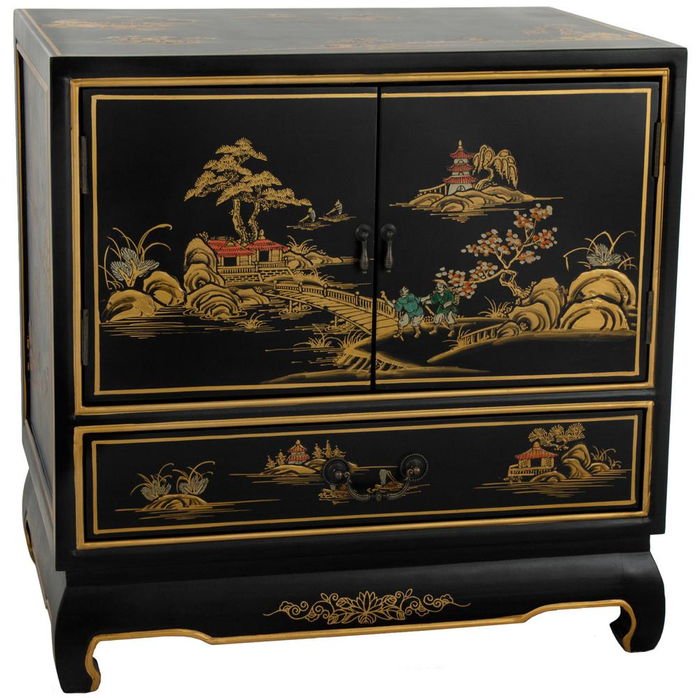 Landscape Black End Table