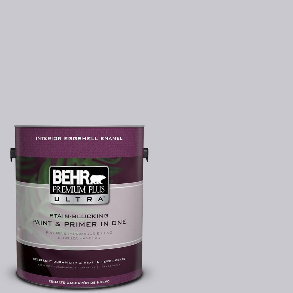 1 gal. #ECC-62-1 Urban Gray Eggshell Enamel Interior Paint and Primer