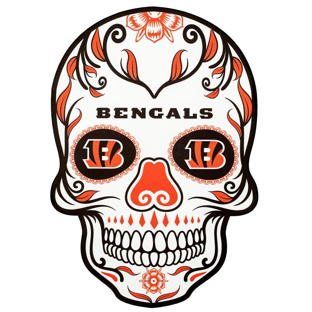 NFL Cincinnati Bengals Outdoor Skull Graphic- Small