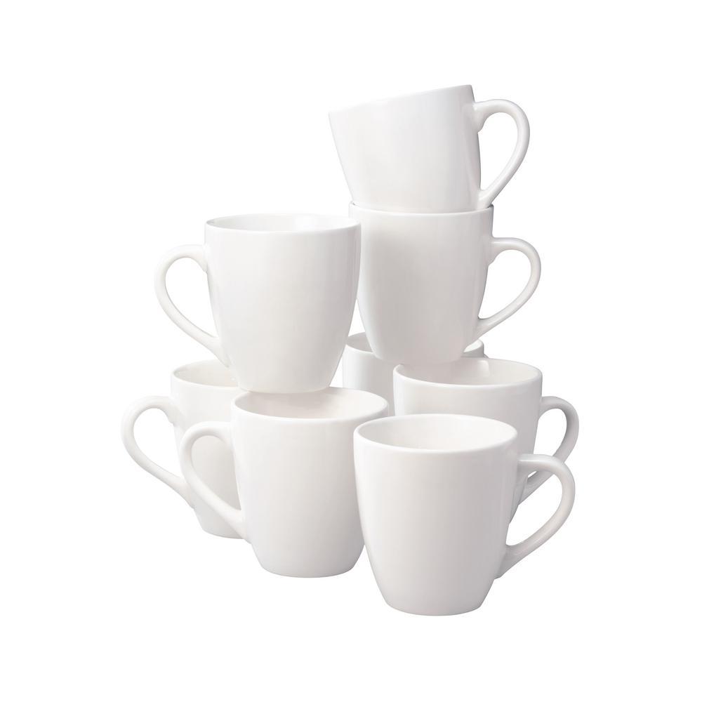 16 oz. Basic White Stoneware Mug (Set Of 8)