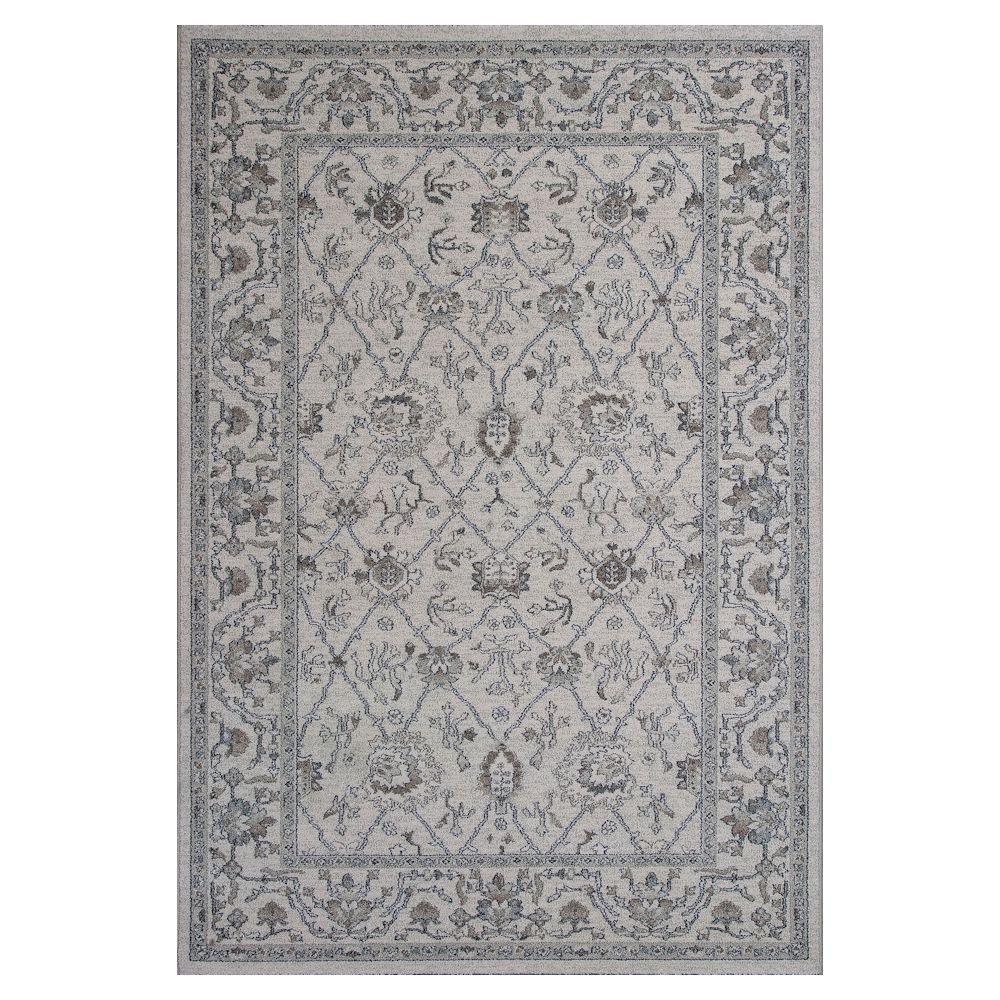 Casual Tradition Ivory/Grey 5 ft. 3 in. x 7 ft. 7