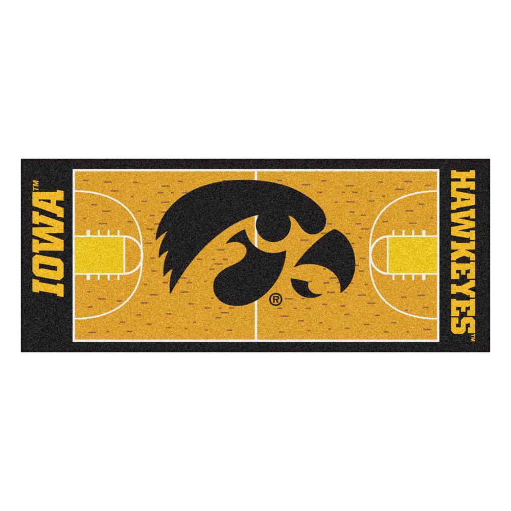 University of Iowa 3 ft. x 6 ft. Basketball Court Runner Rug