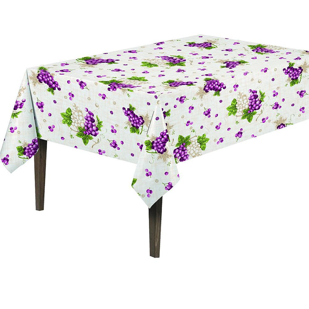 55 in. Round Indoor and Outdoor Sunflower Design Table Cloth for