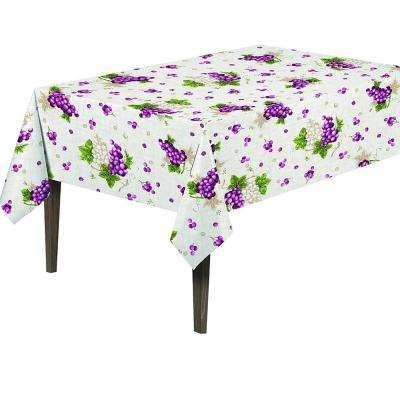 55 in. Round Indoor and Outdoor Sunflower Design Table Cloth for Dining Table