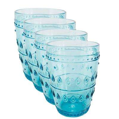 Fez 4-Piece 14 oz. Turquoise Highball Glass Set