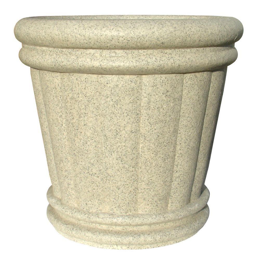 KutStone 34 in. x 32 in. Speckled Granite Roman Urn