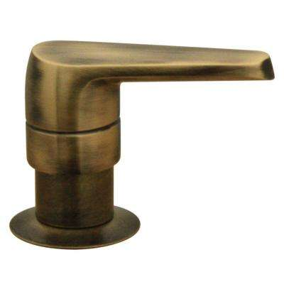 Kitchen Deck Mount Soap/Lotion Dispenser in Antique Brass