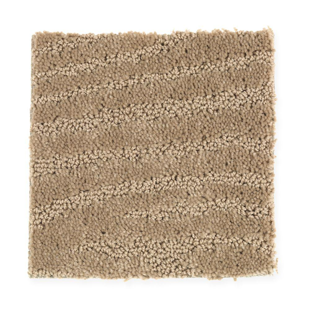 Carpet Sample Typhoon Color Cedar Shingle Pattern 8 In