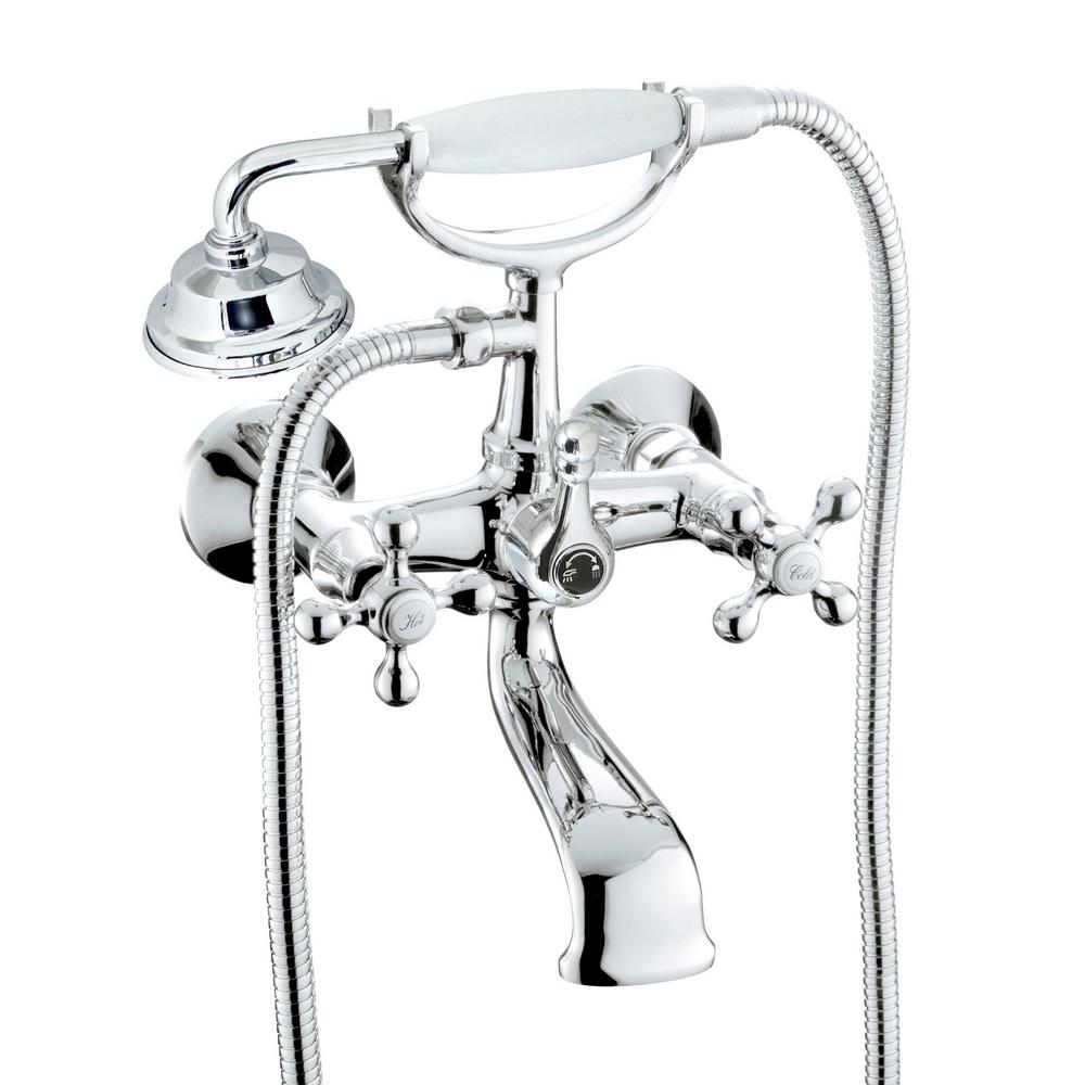 2 Handle 1 Spray Tub And Shower Faucet With