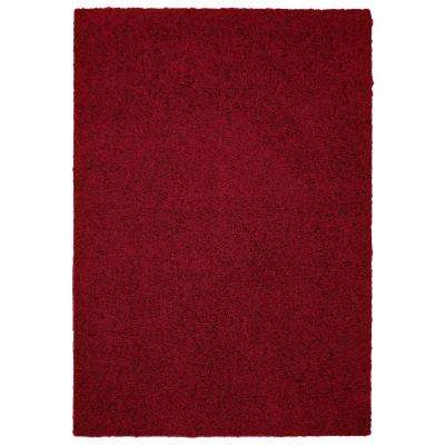 Southpointe Shag Red Burgundy 5 ft. x 7 ft. Area Rug