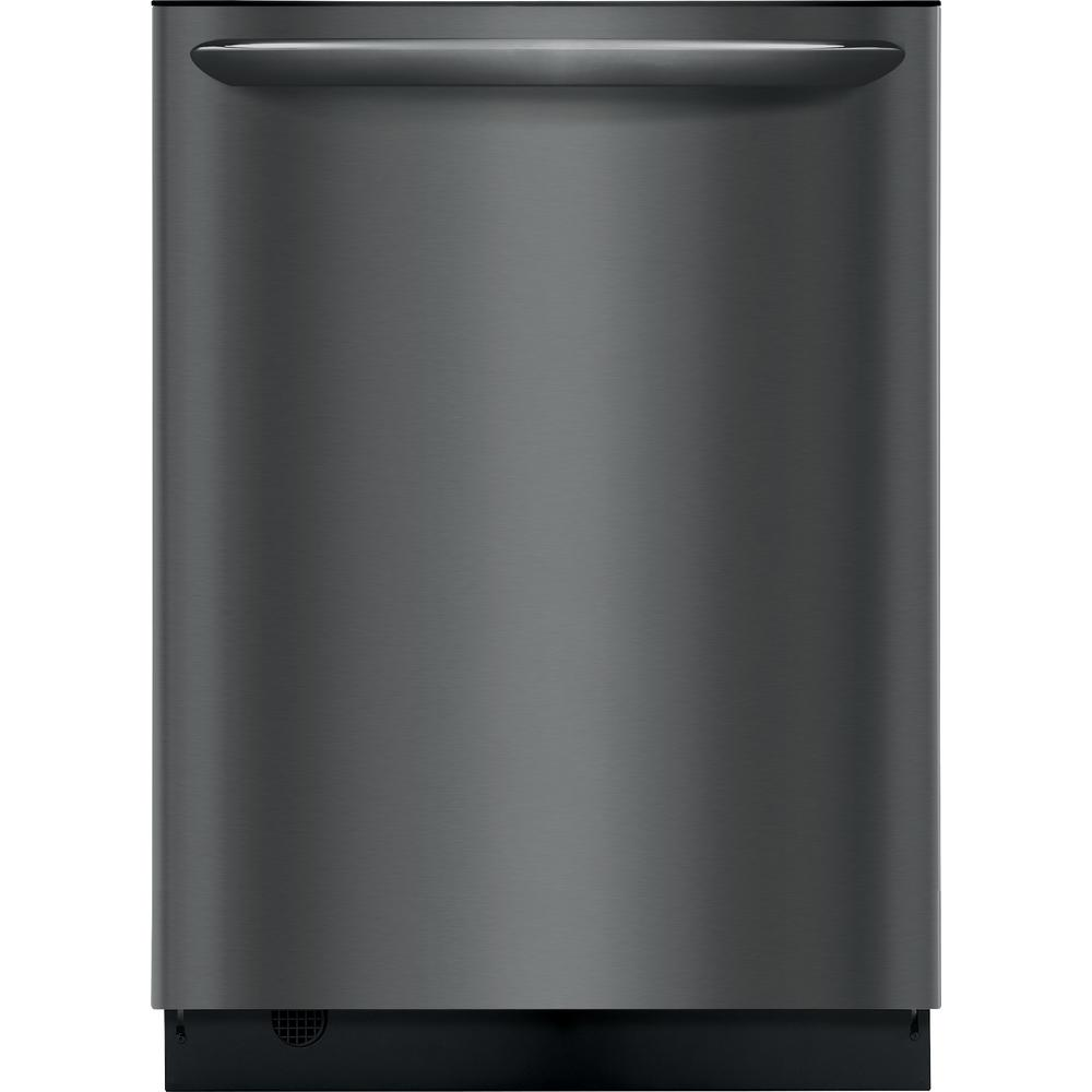 Frigidaire Top Control Built-In Tall Tub Dishwasher in Smudge-Proof Black Stainless Steel with Stainless Steel Tub at 49 dBA