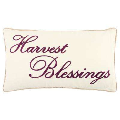 Christmas Harvest Blessings 14 in. x 26 in. Decorative Filled Pillow