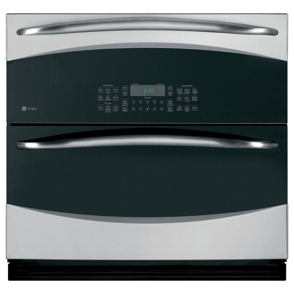 GE Profile 30 in. Single Electric Wall Oven Self-Cleaning with Convection in Stainless Steel