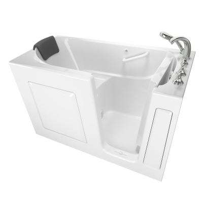Gelcoat Premium Series 4.9 ft. Walk-In Air Bathtub in White