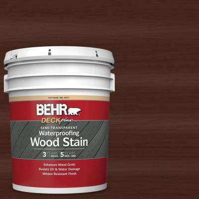 5 gal. #ST-117 Russet Semi-Transparent Waterproofing Exterior Wood Stain