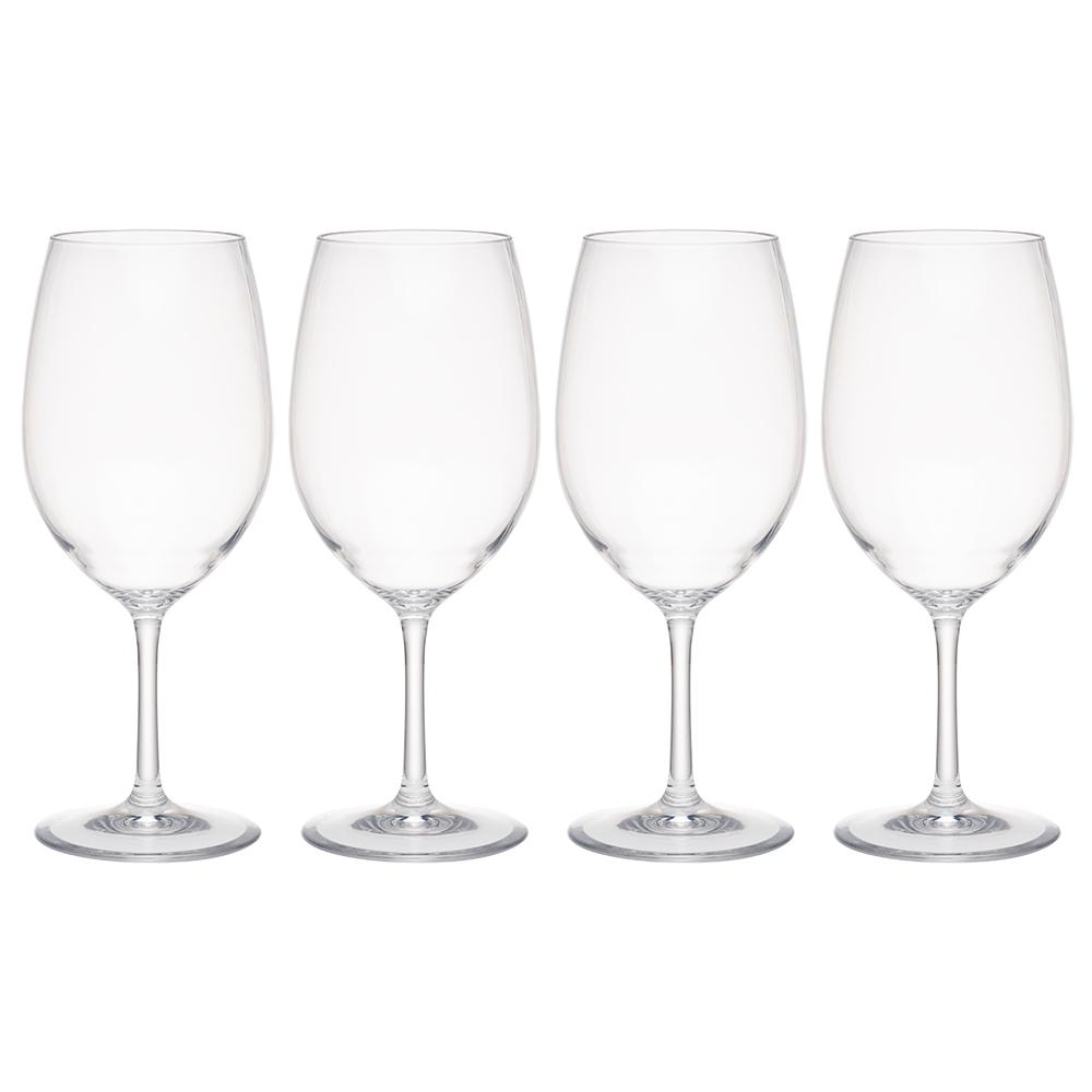 Hudson 4-Piece Tritan Acrylic 21 oz. Red Wine Glass Set