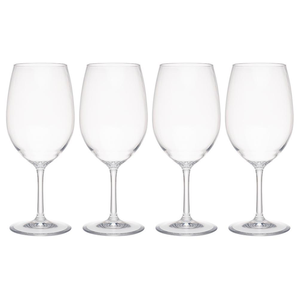 Hudson 4-Piece Tritan Acrylic 21 oz. Red Wine Glass Set