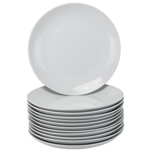10 Strawberry Street 10.5 in. White Catering Pack Coupe Dinner Plates