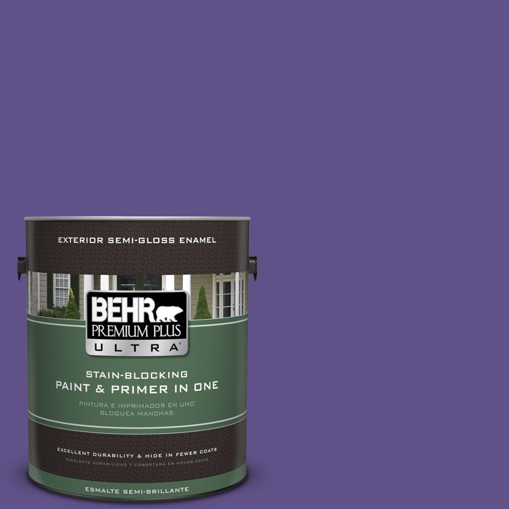 BEHR Premium Plus Ultra 1-gal. #P560-7 King's Court Semi-Gloss Enamel Exterior Paint